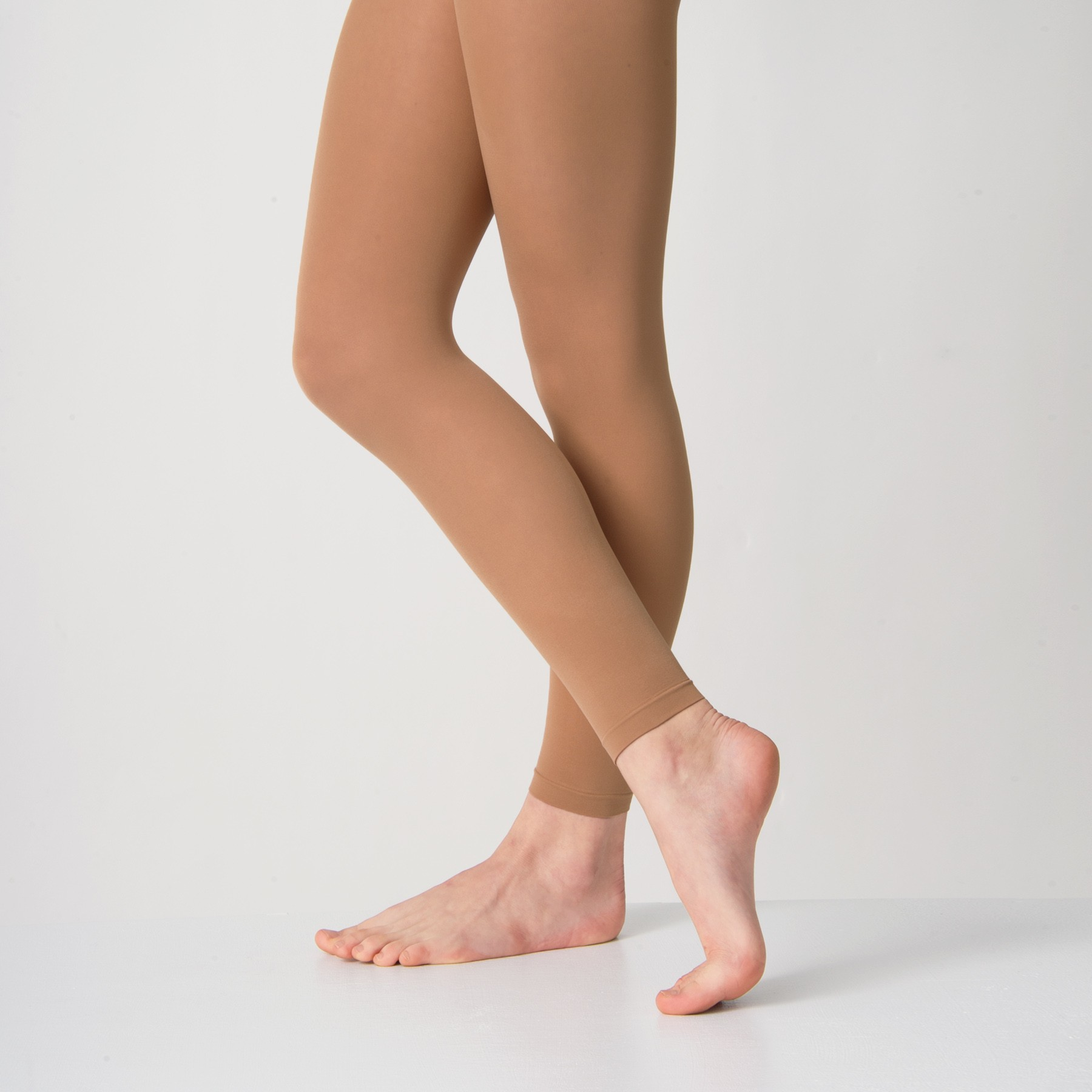 Silky Footless Ballet Tights (Tan)