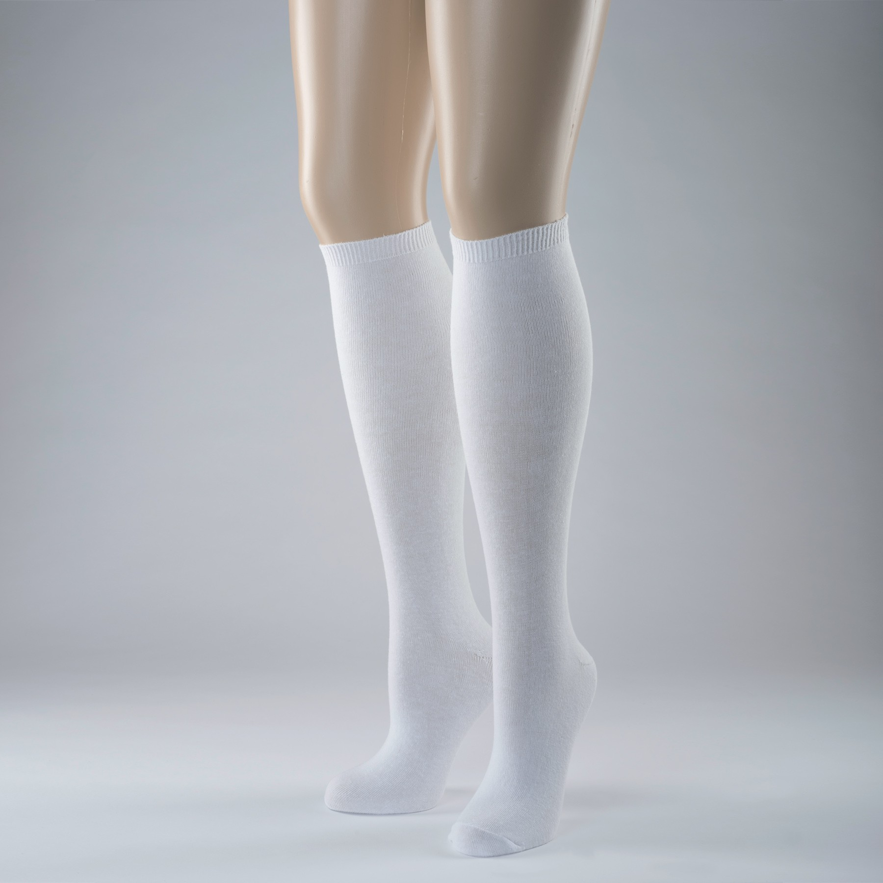 Knee High Socks Plain (White)