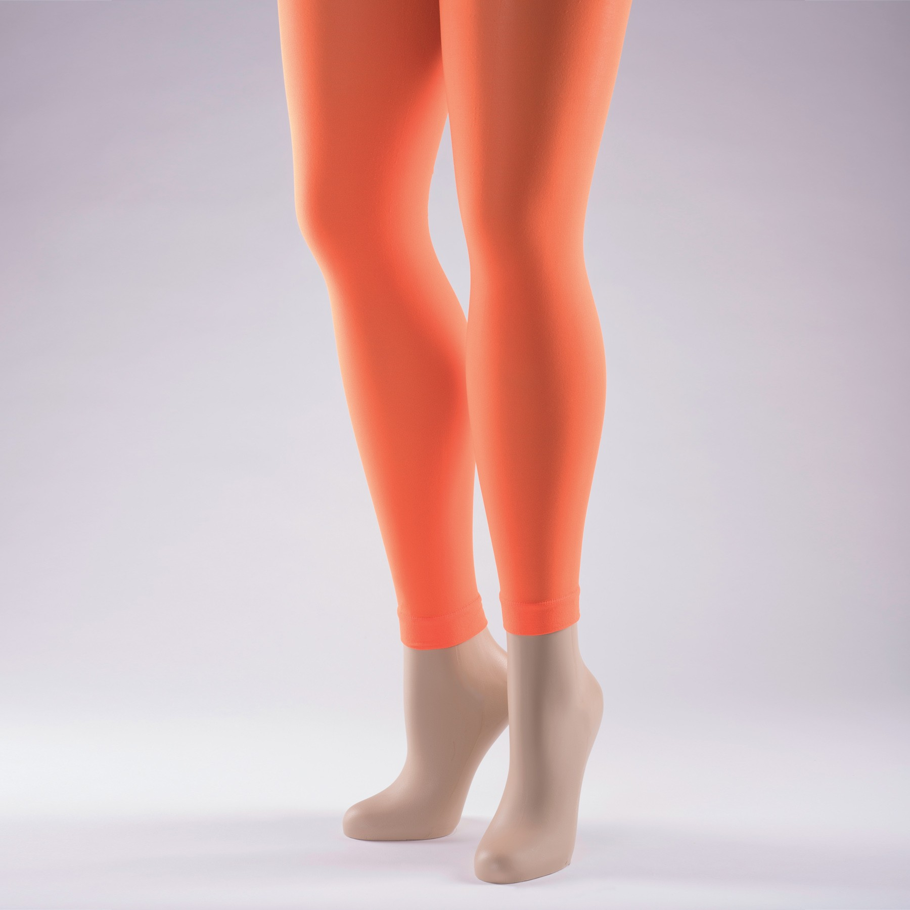 Footless Tights 40 Denier - Adult One Size Flo Orange