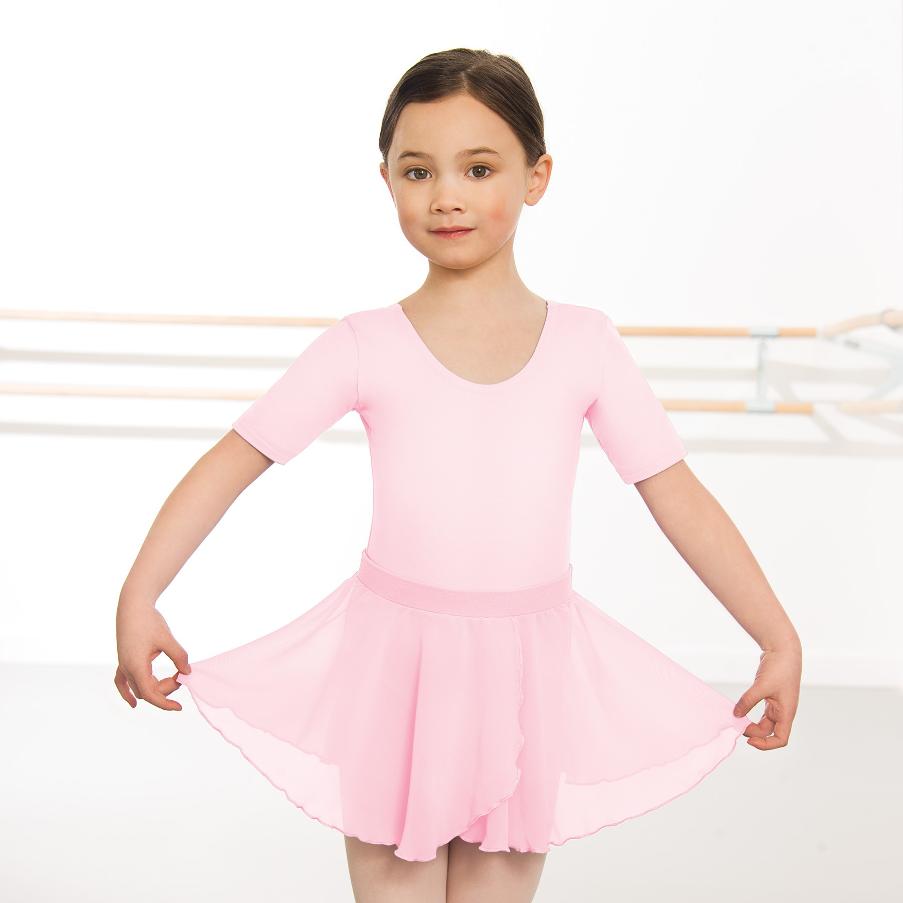 Child Pull On Georgette Skirt (Pink)