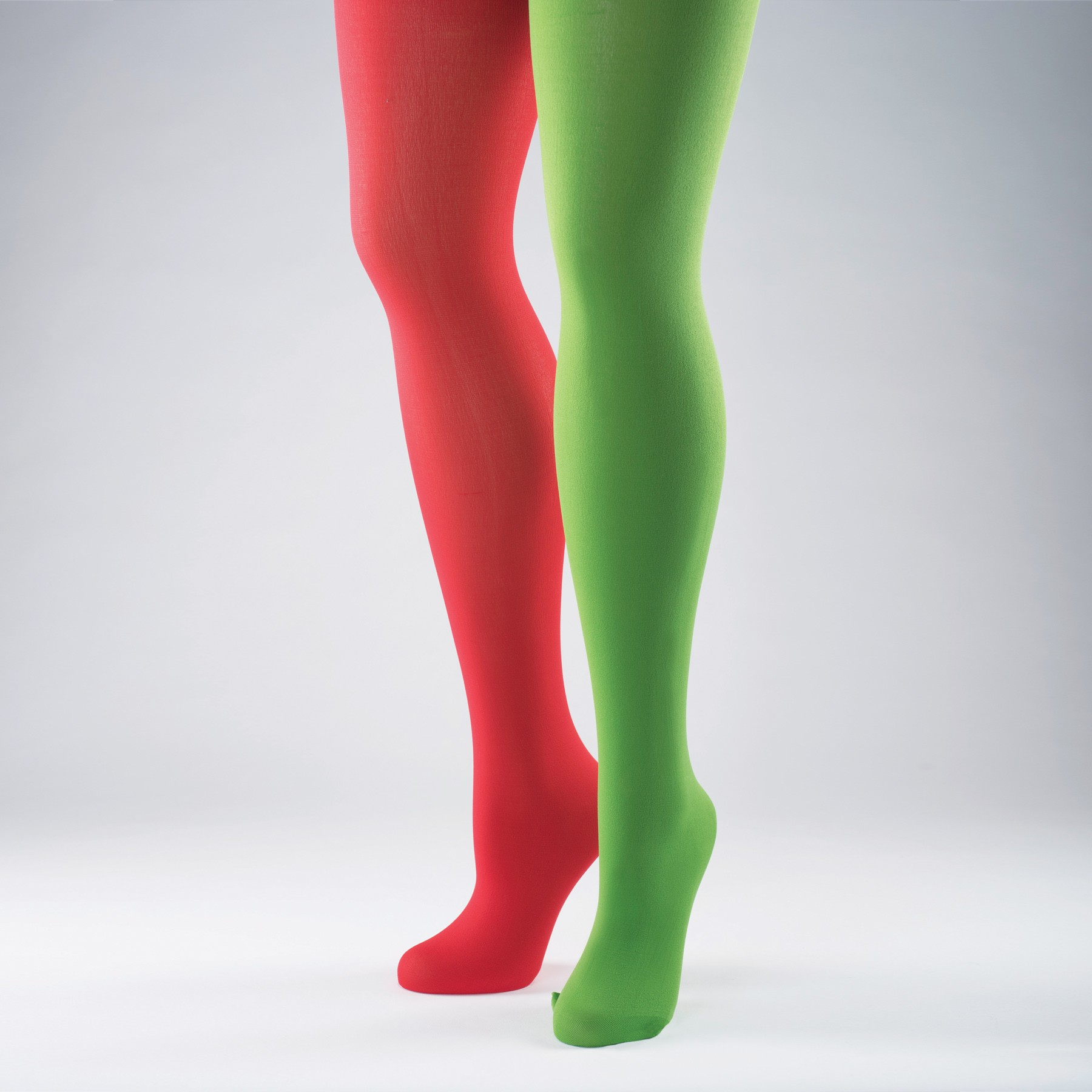 Red & Green Elf Tights - Adult One Size