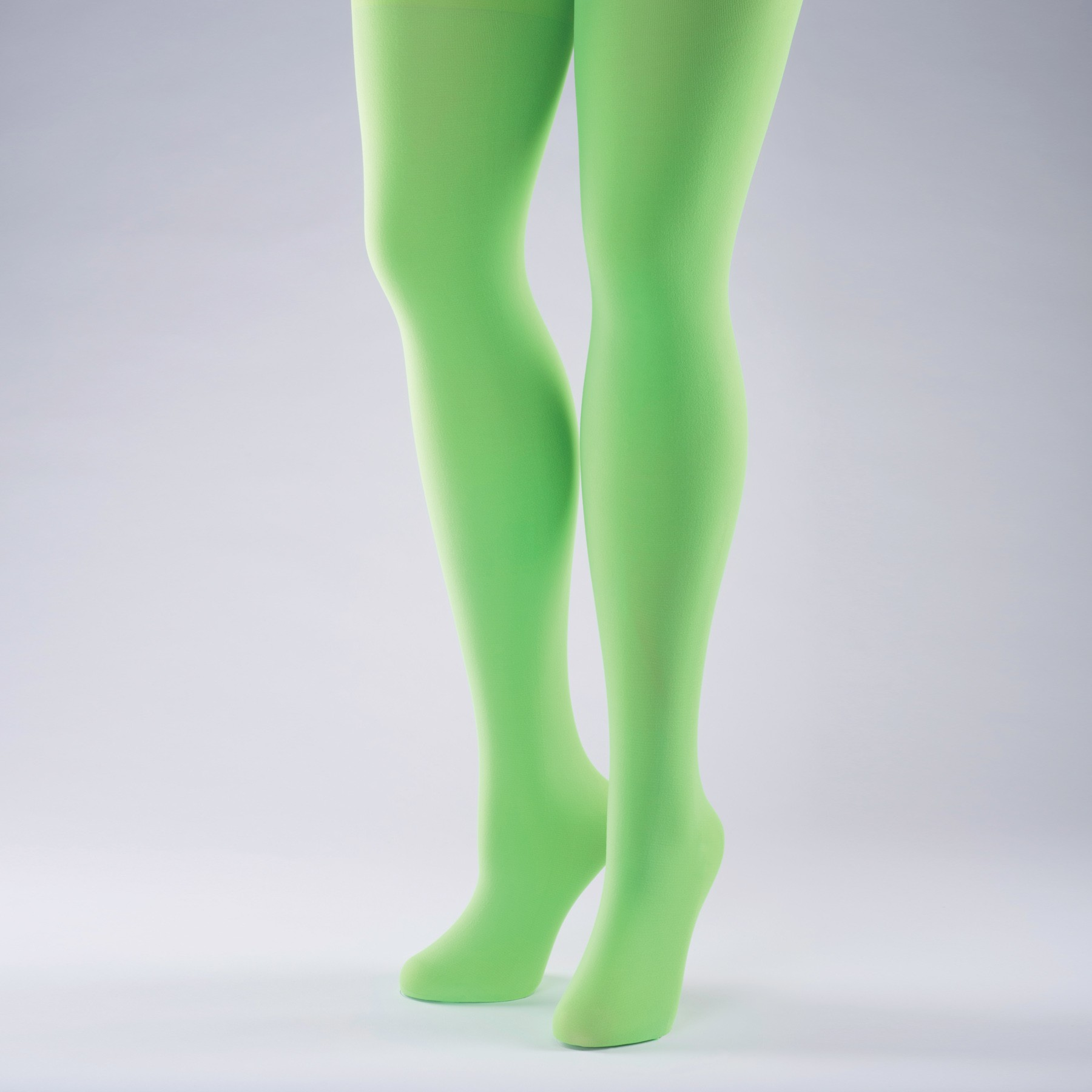 50 Denier Opaque Tights - Adult One Size Flo Green
