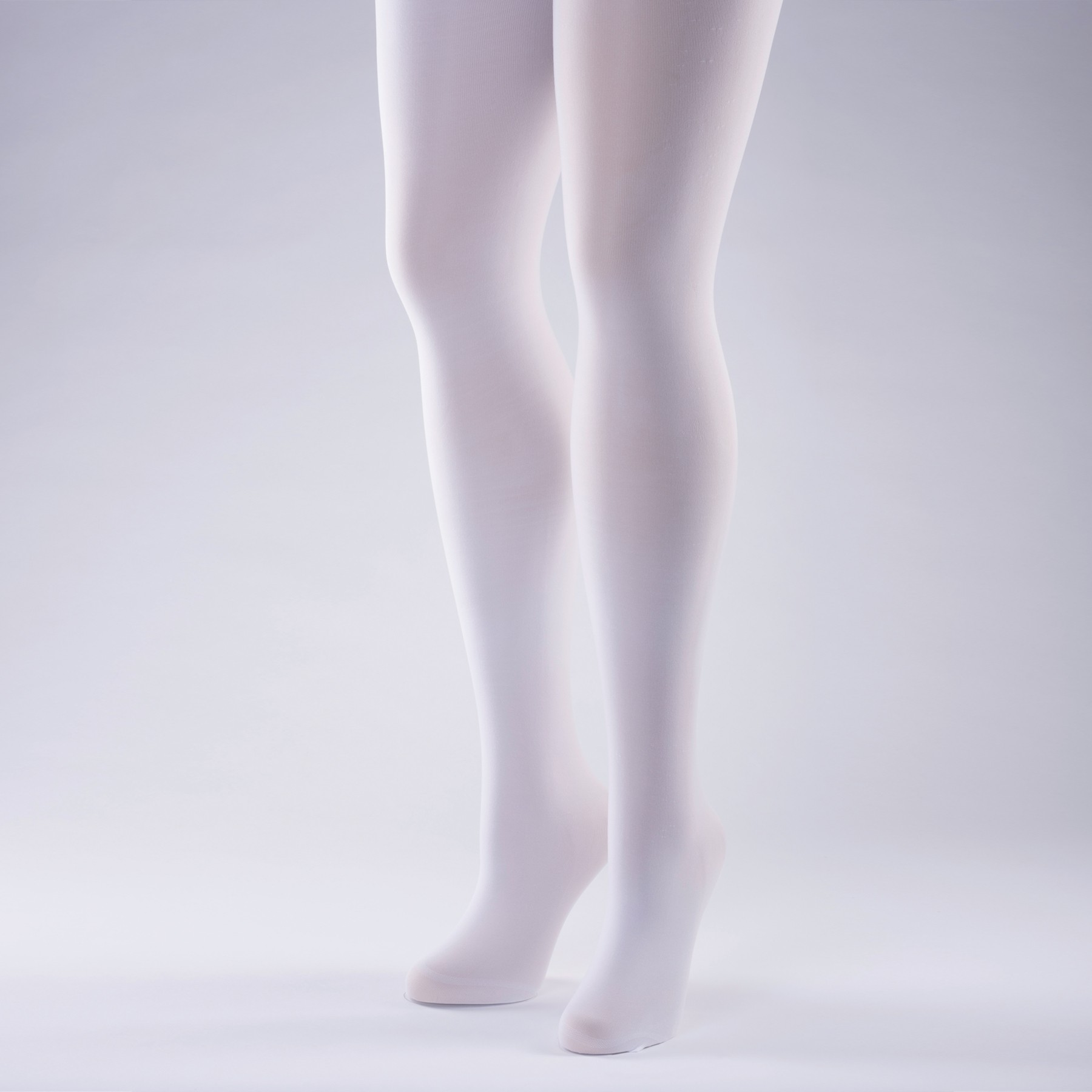 50 Denier Opaque Tights - Adult One Size White