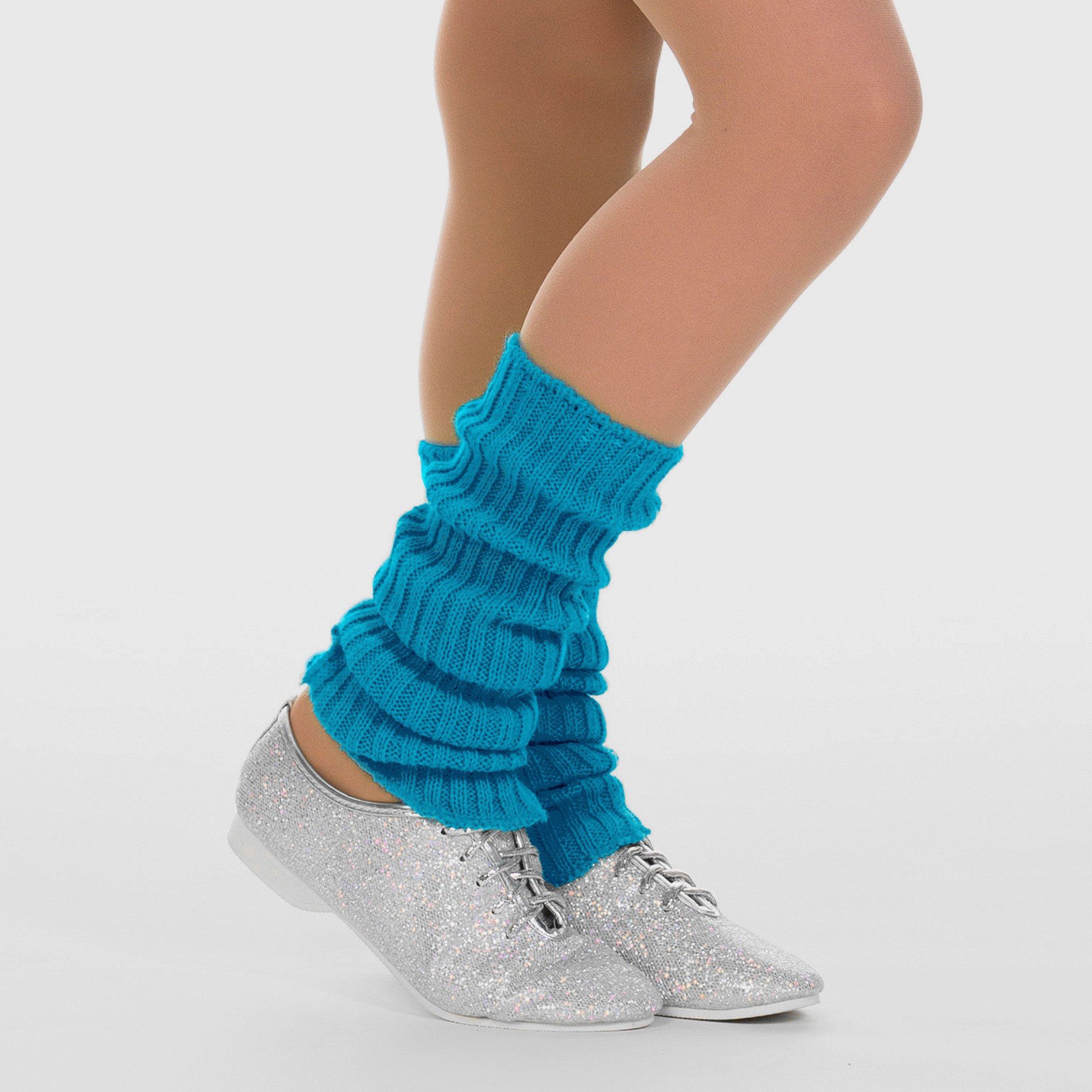 1st Position Stirrup Anklewarmers - 40cm Turquoise