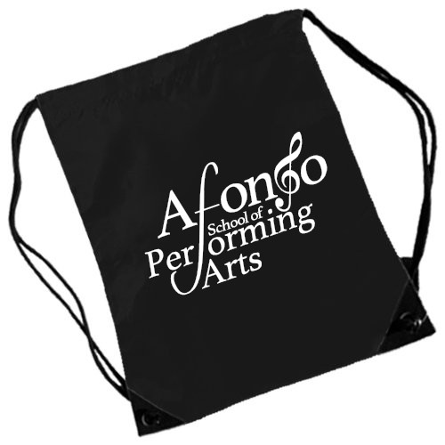 PP*#12#* Gymsac Black with Afonso School of Performing Arts Logo