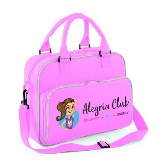 Junior Dance Bag Pink with Alegria Club Logo