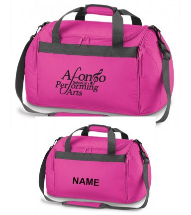 PP*#334#* Holdall Fuchsia Personalised with Individual Names and Afonso School of Performing arts Logo