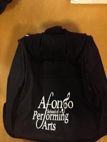 PP*#10#* Holdall Black with Afonso School of Performing Arts Logo