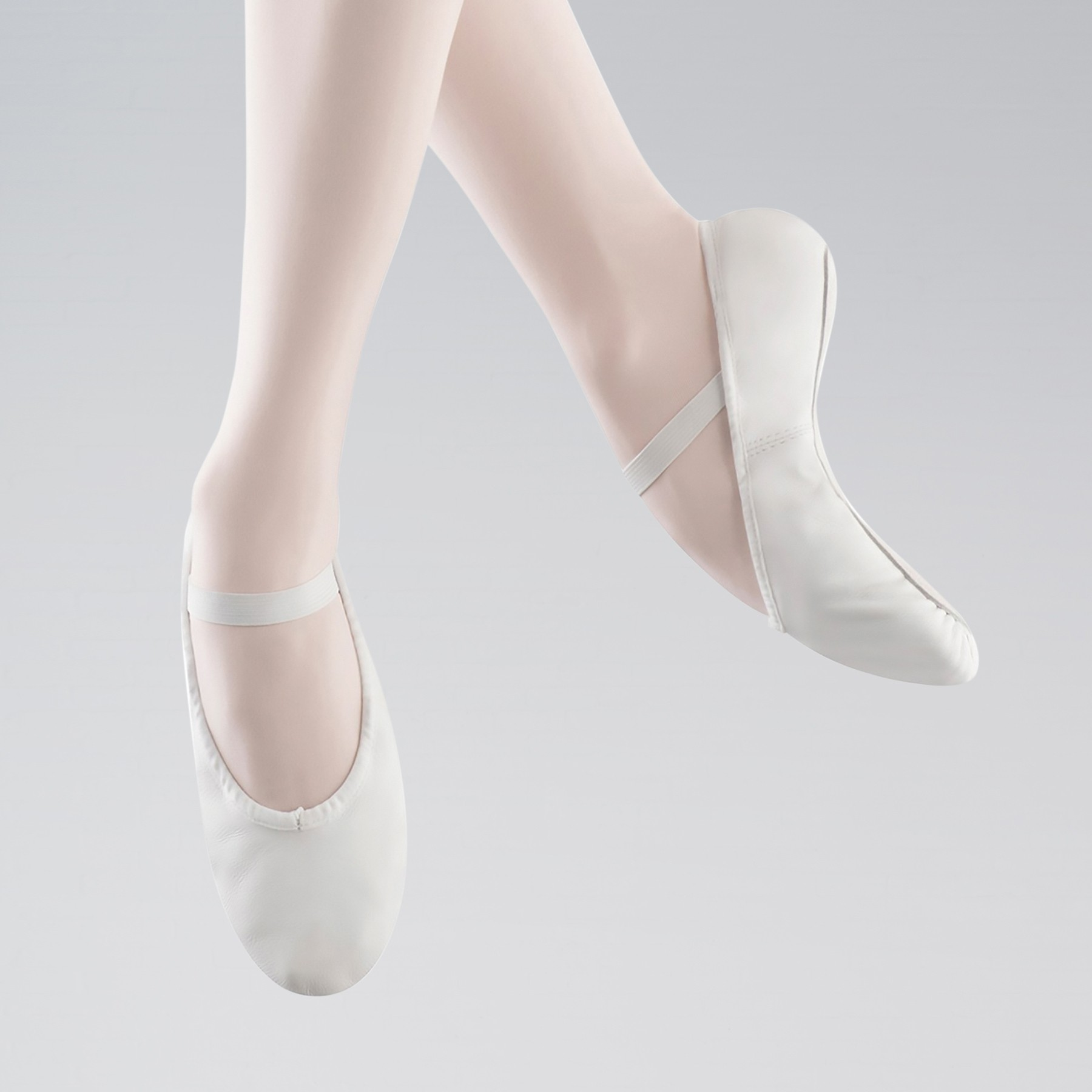 Bloch Arise Full Sole Leather Ballet Shoe (White)