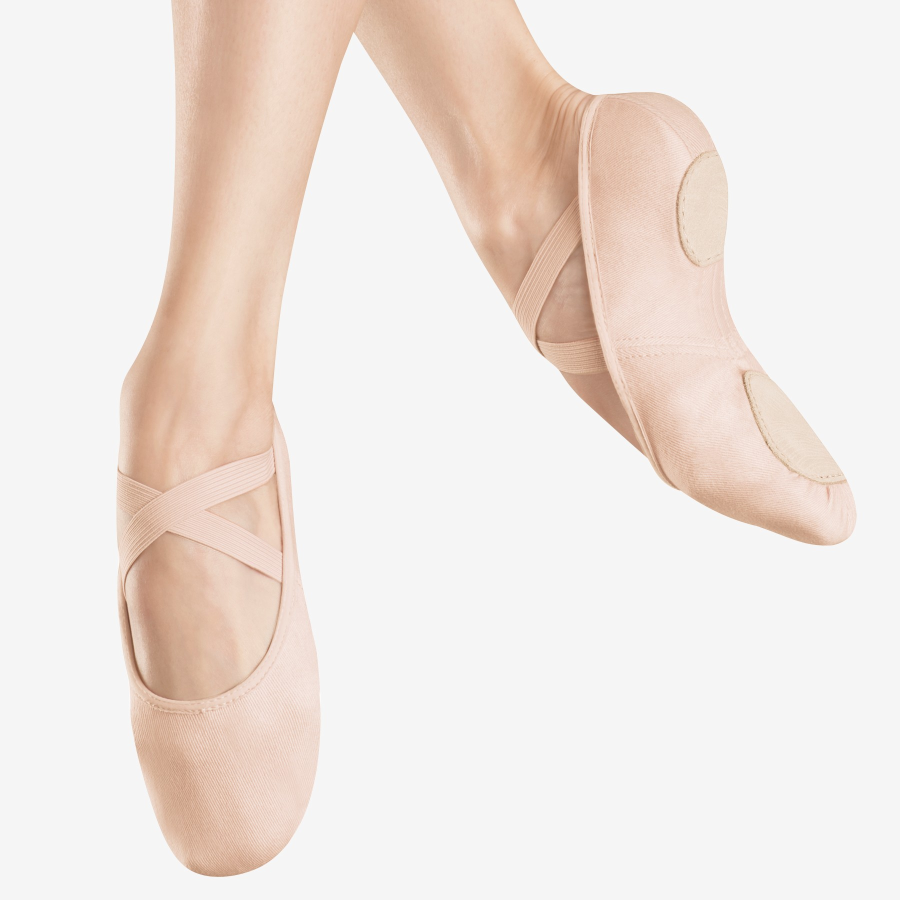 Bloch Canvas Infinity Stretch Ballet Shoe (Pink)
