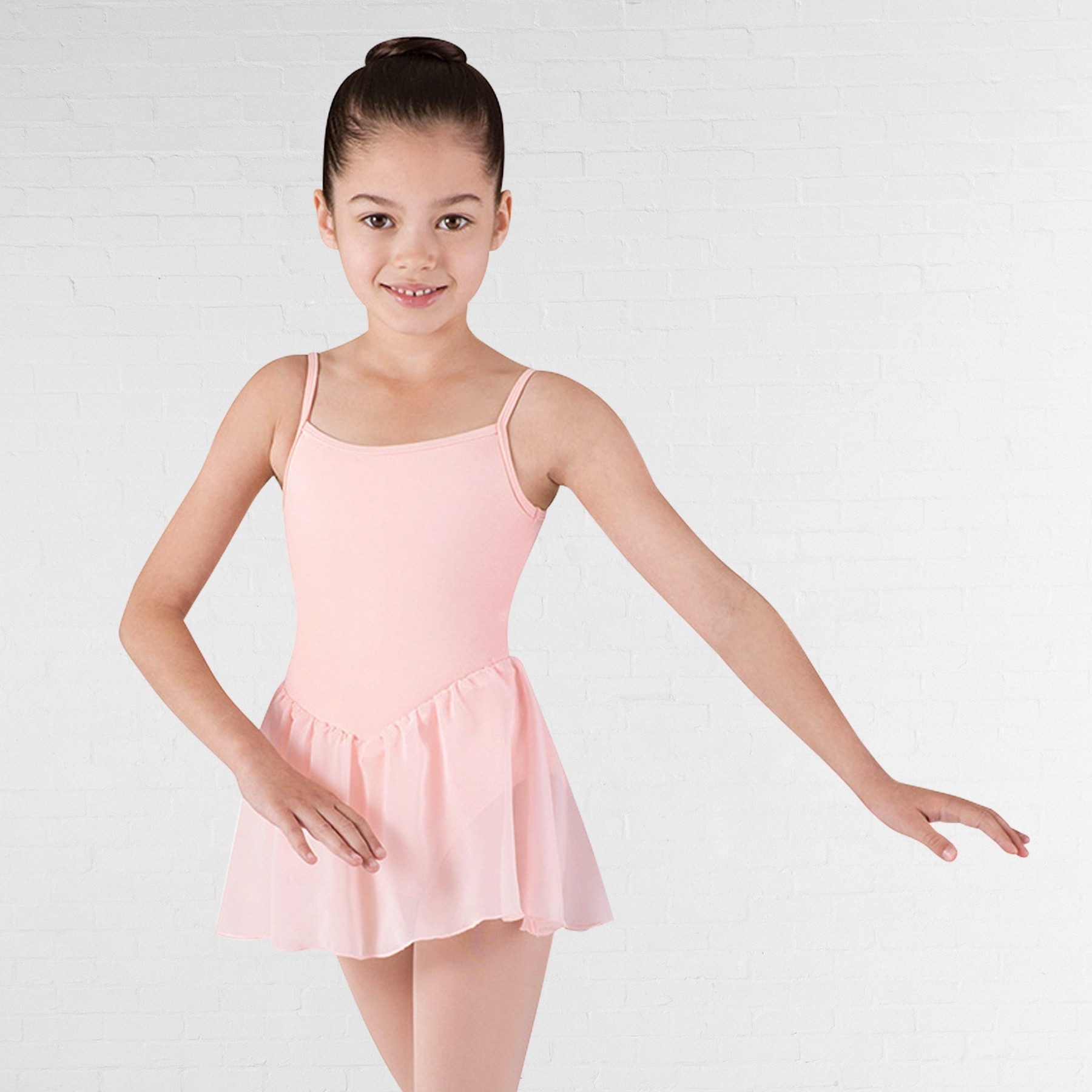 Bloch Childrens Blossom Cami Leotard With Skirt (Pink)