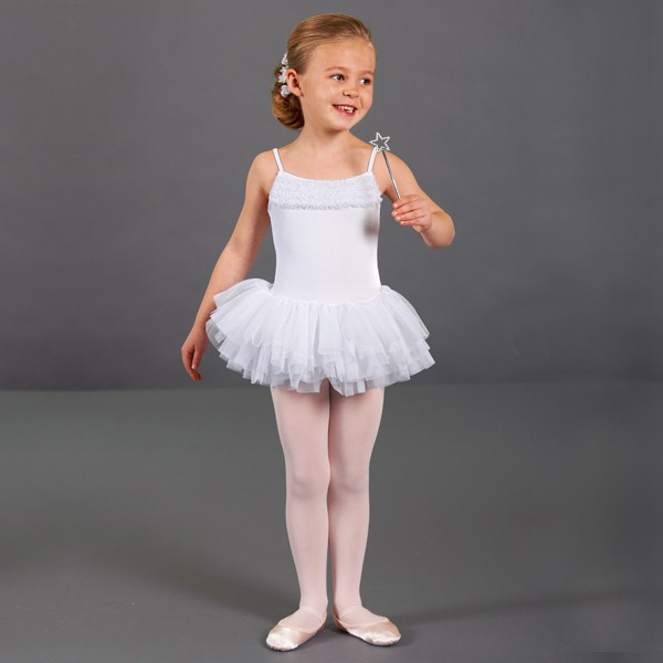 Bloch Desdemona Girls Tutu Leotard (White)
