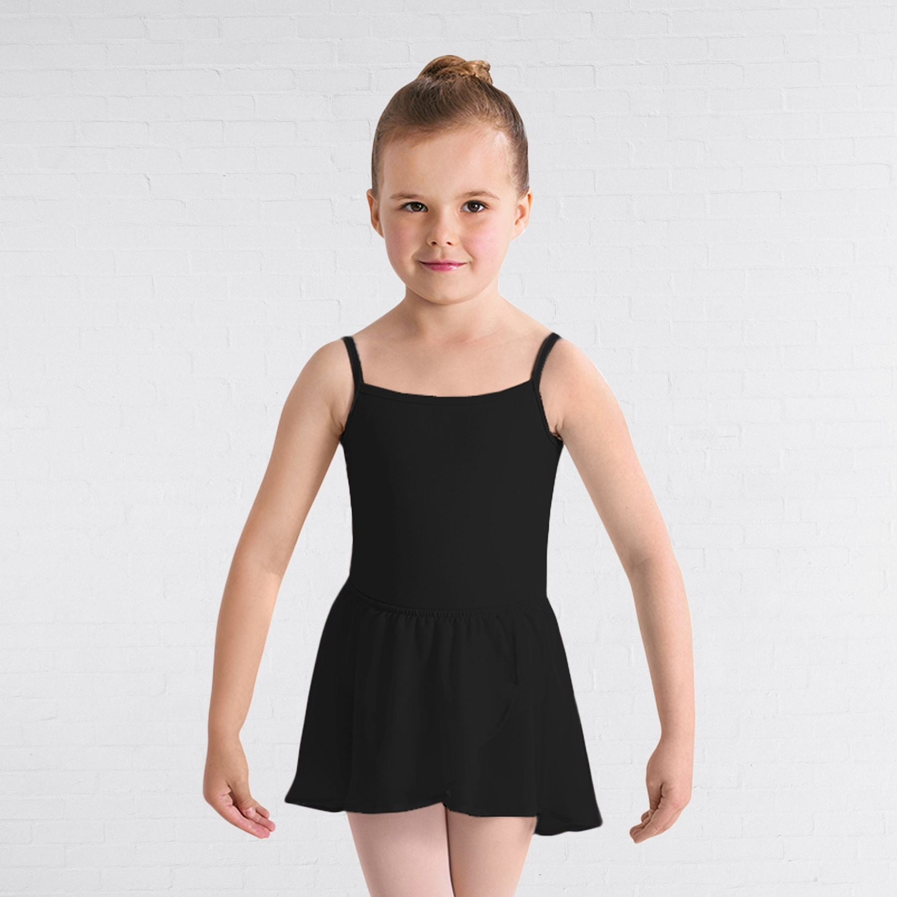 Bloch Georgette Mock Wrap Ballet Skirt (Black)