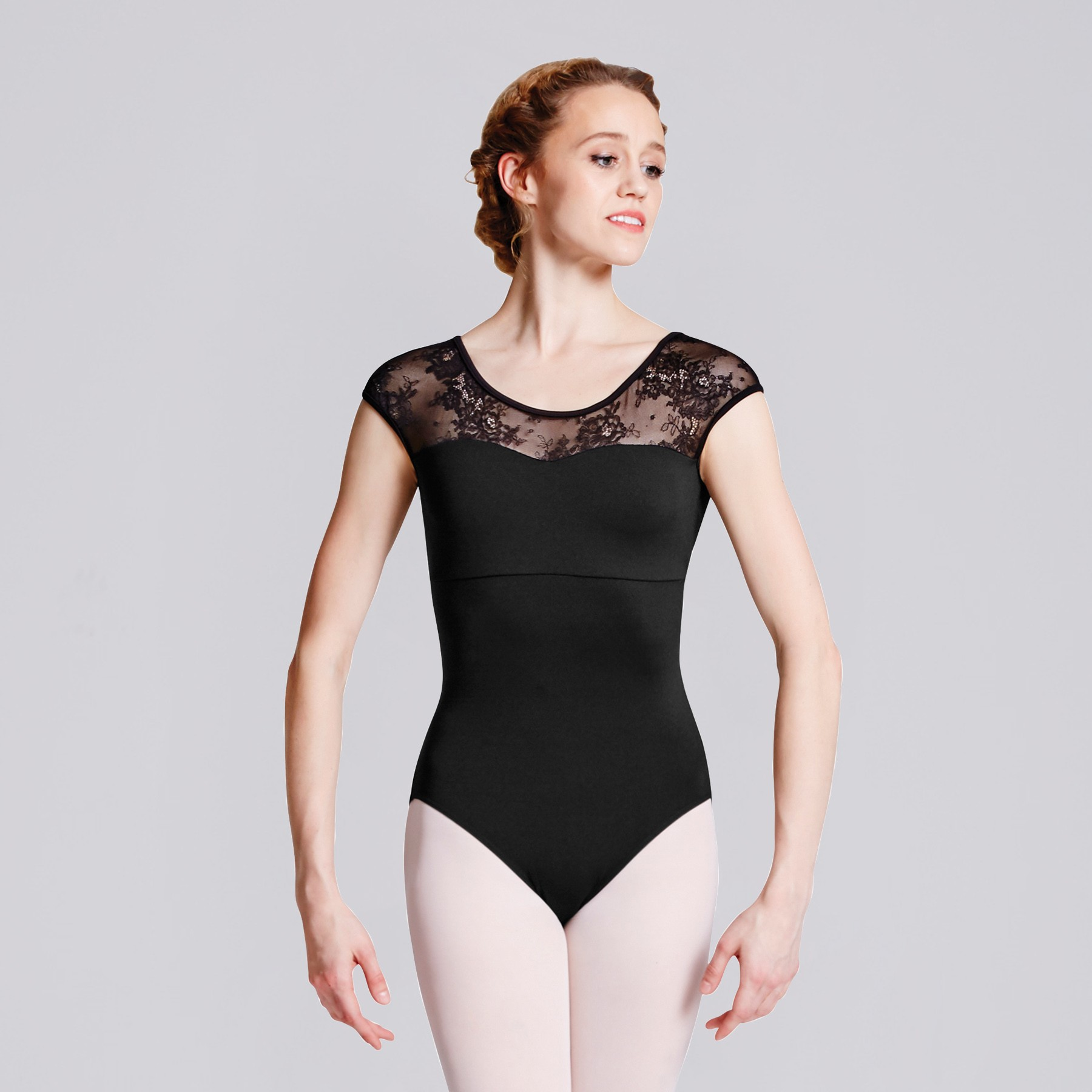 Bloch Hava Lace Back Cap Sleeve Leotard