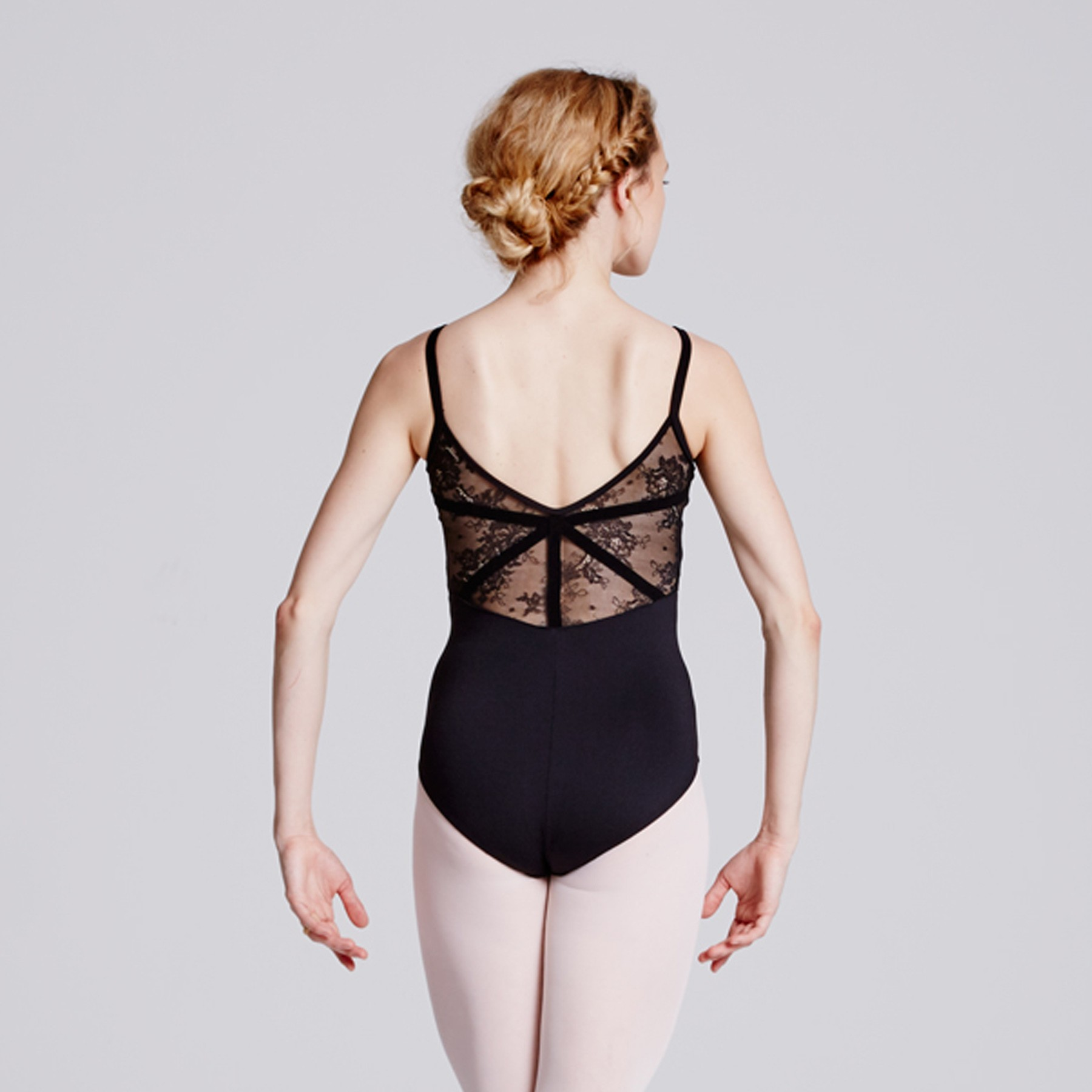 3b19180a32 Bloch Eyal Lace Back Cami Leotard