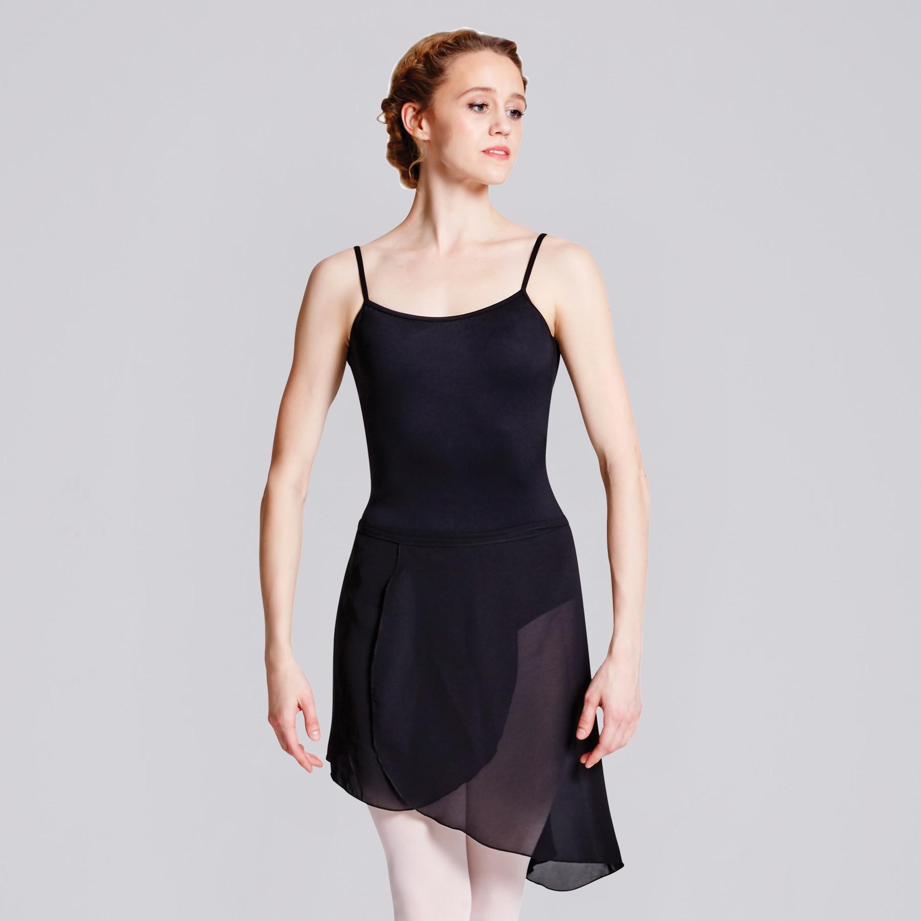 Bloch Maroney Georgette Asymmetrical Skirt Black Size Adult