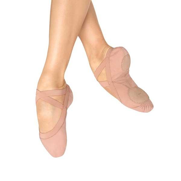 Bloch Pro Elastic Canvas Ballet Shoe (Pink)