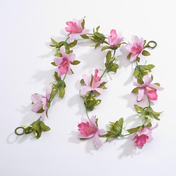 Artificial Flower Garland - Pale Pink (1m approx)