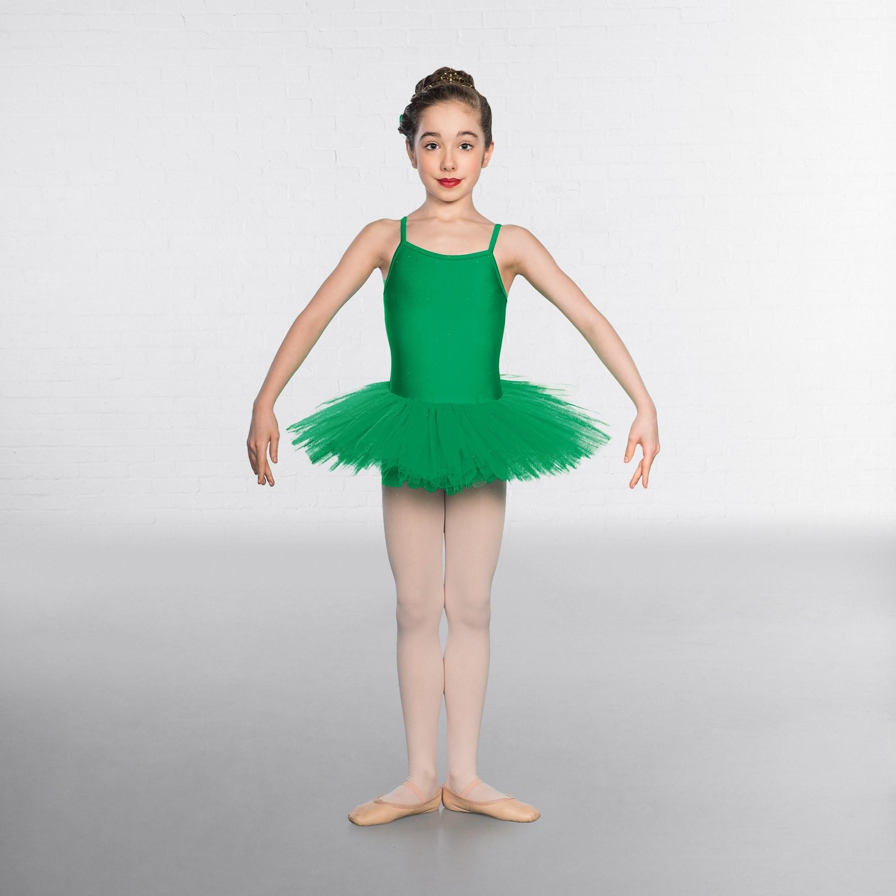 1st Position Nylon Elastane 5 Layer Tutu (Emerald)