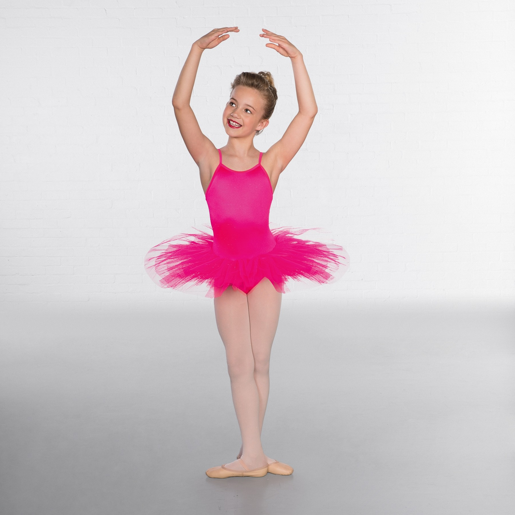 1st Position Nylon Elastane 5 Layer Tutu (Flo Pink)