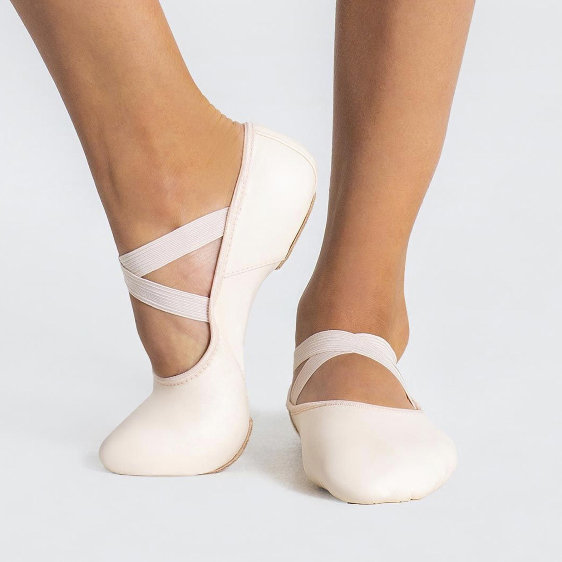 Capezio Hanami™ Leather Ballet Shoe (Light Pink)