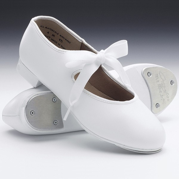 Capezio Junior Tyette Tap Shoes (White)