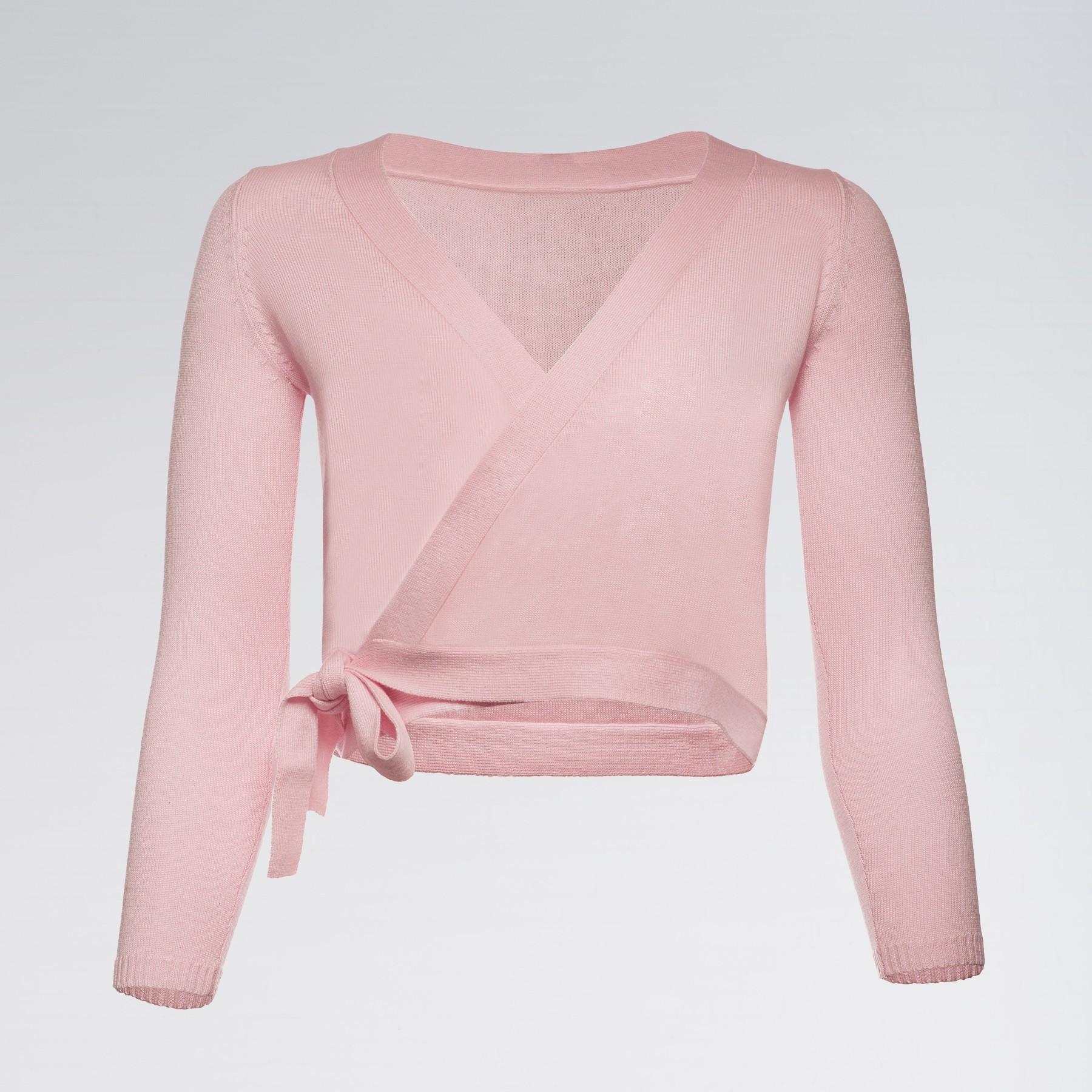 Capezio Wrap Sweater Pink Child Medium