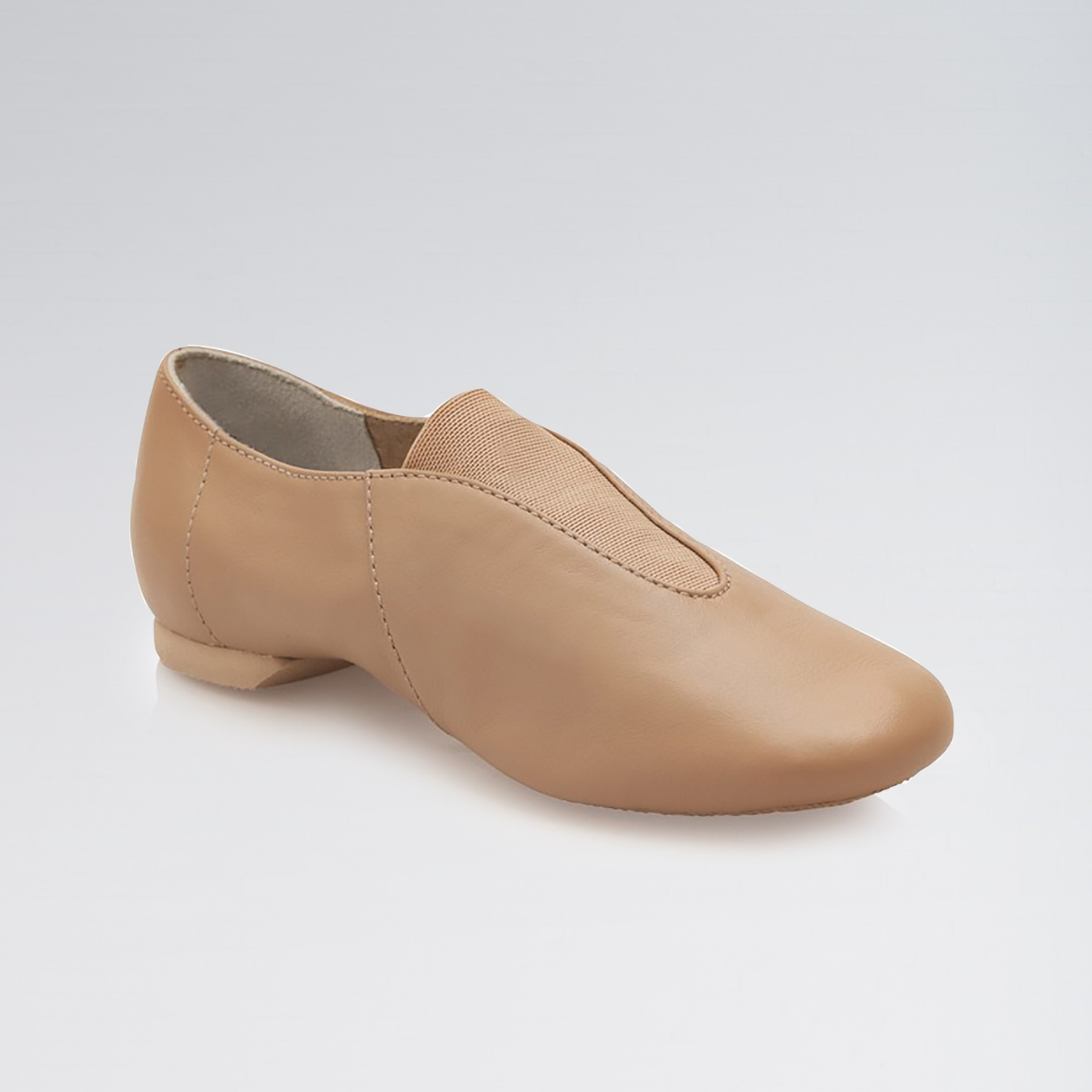 Capezio Childrens Show Stopper Split Sole Jazz Shoe (Caramel)