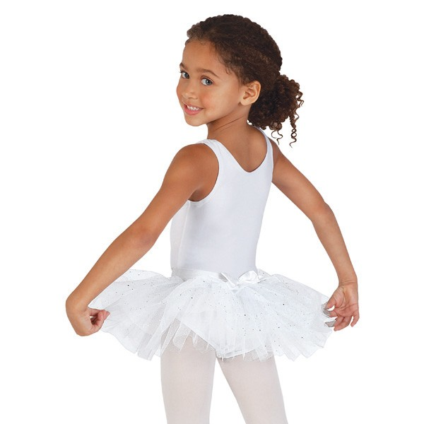 Capezio Pull On Tutu Skirt (White)