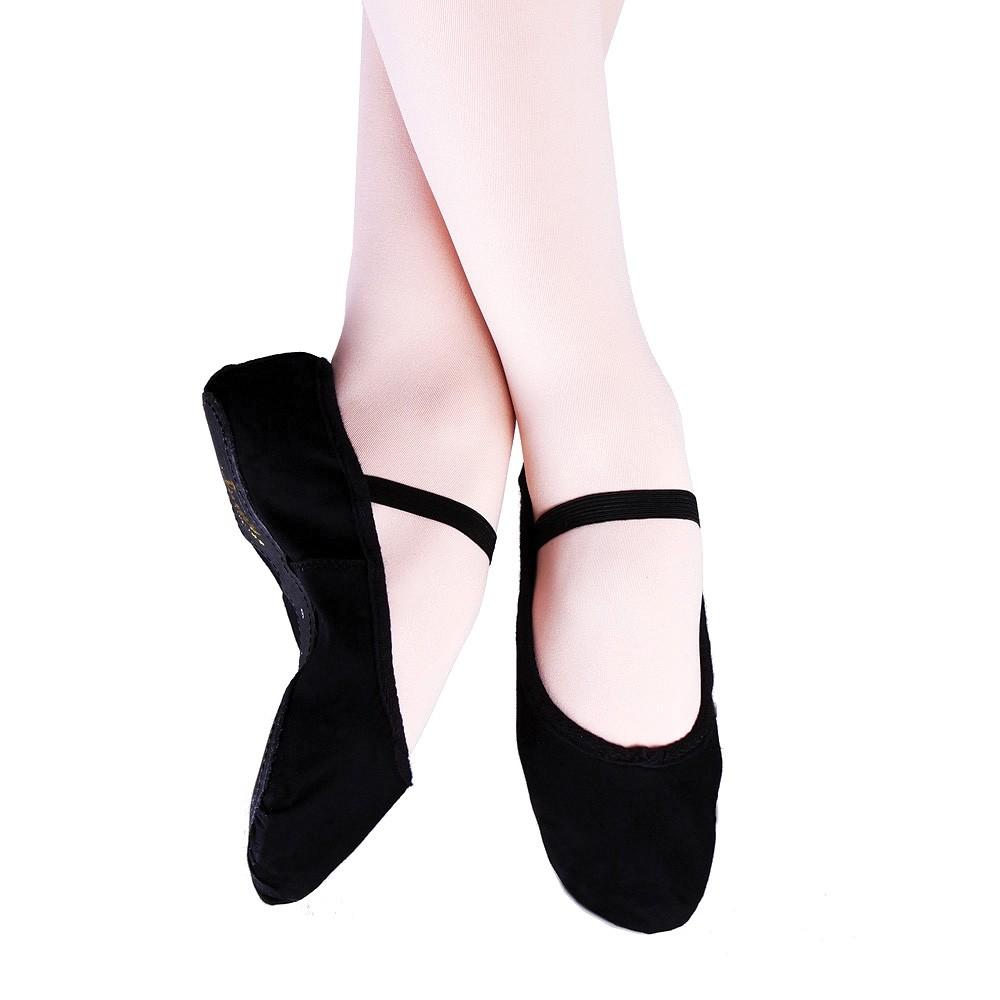 Canvas Ballet Shoes (Black)