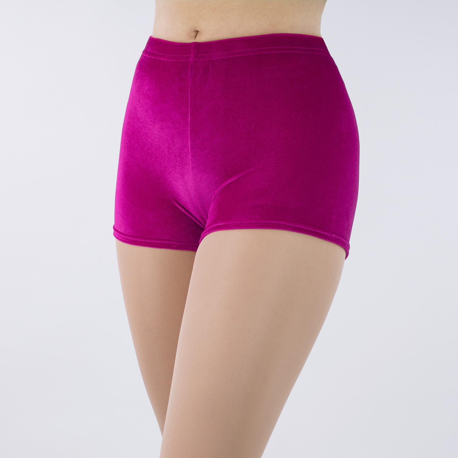 1st Position Jenna Stretch Velour Shorts (Cerise)