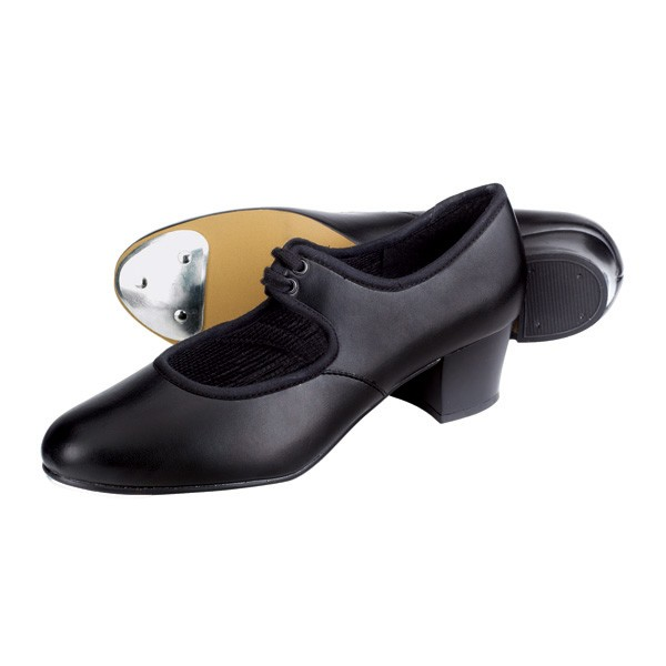1st Position PU Cuban Heel Tap Shoes (Black)