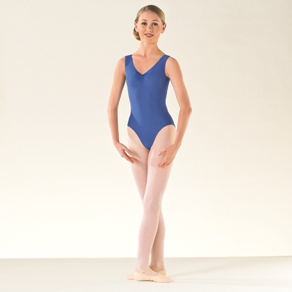 ISTD Ballet ruche lined leotard Grade 1-4 (Bluebell)