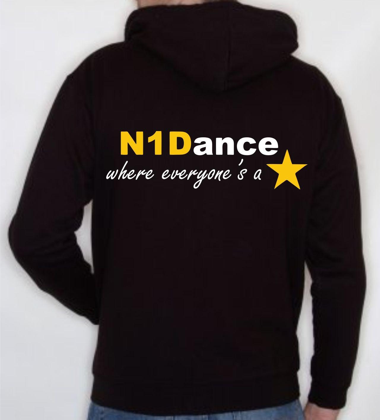 PP *#041041#* Child Hoodie (Black) with N1 Dance Logo