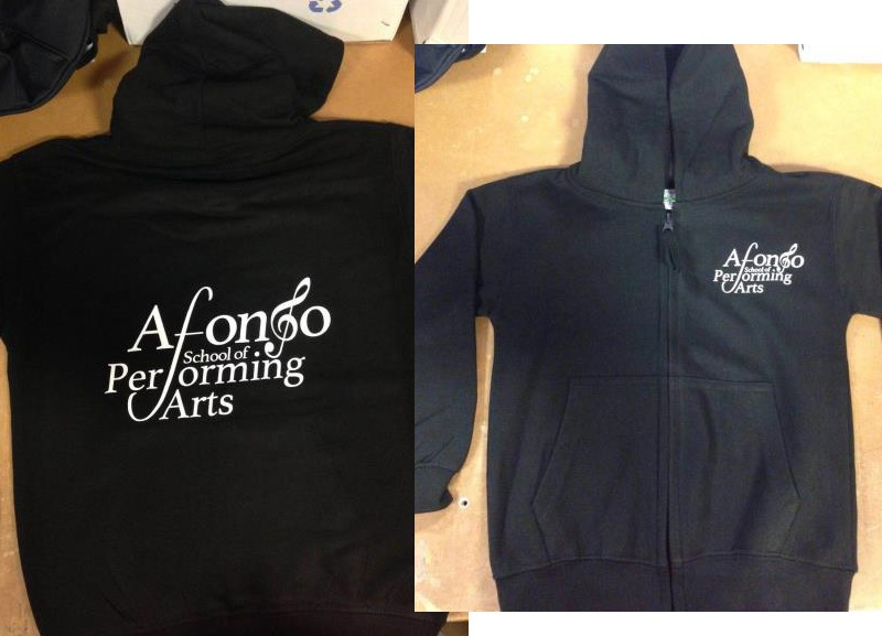 Child Hoodie (Black) with Afonso School of Performing Arts Logo