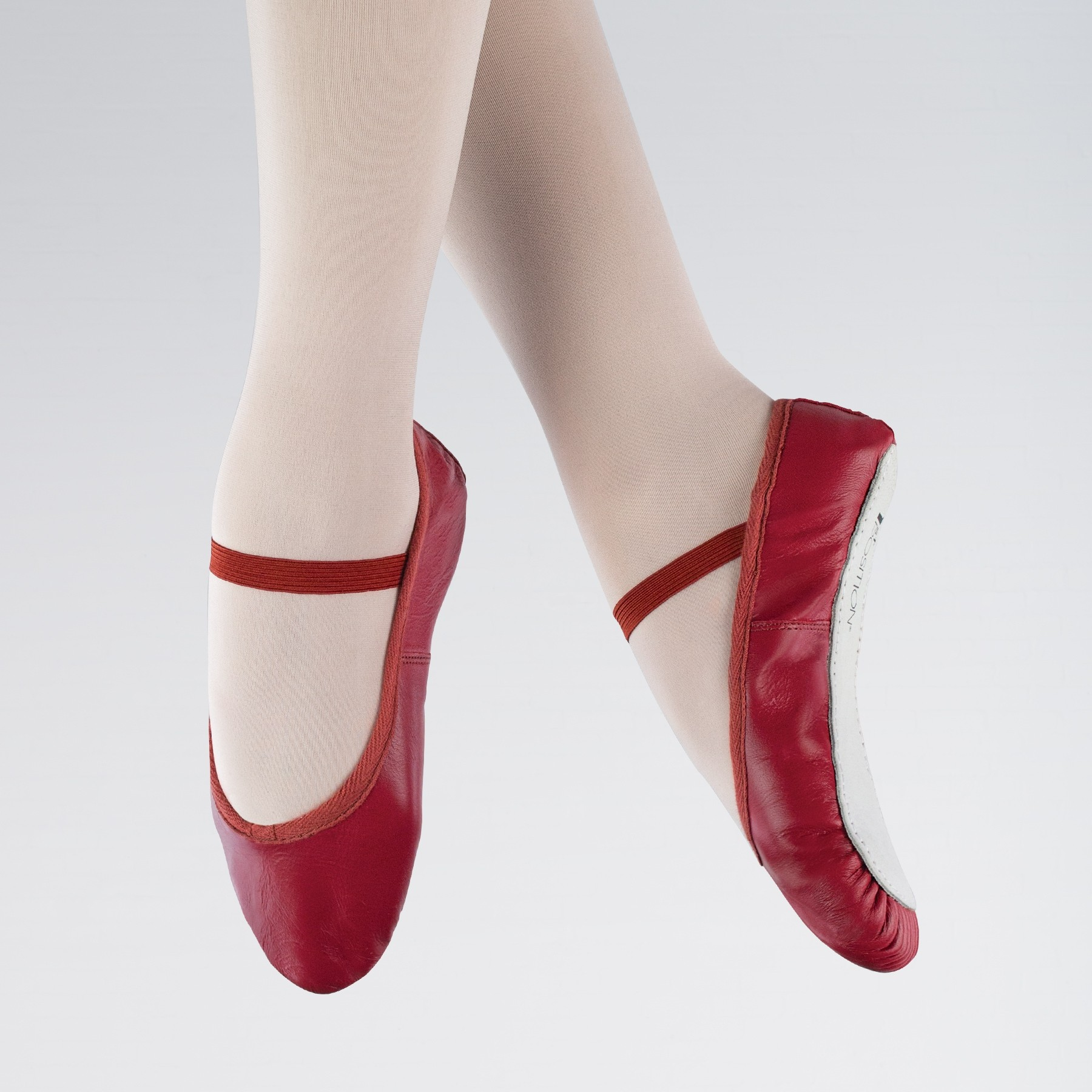 1st Position Leather Ballet Shoes (Red)