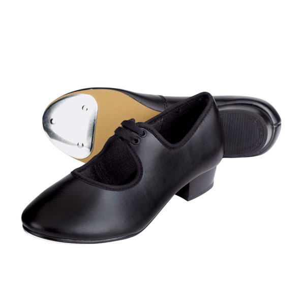 1st Position Low Heel PU Tap Shoes (Black)