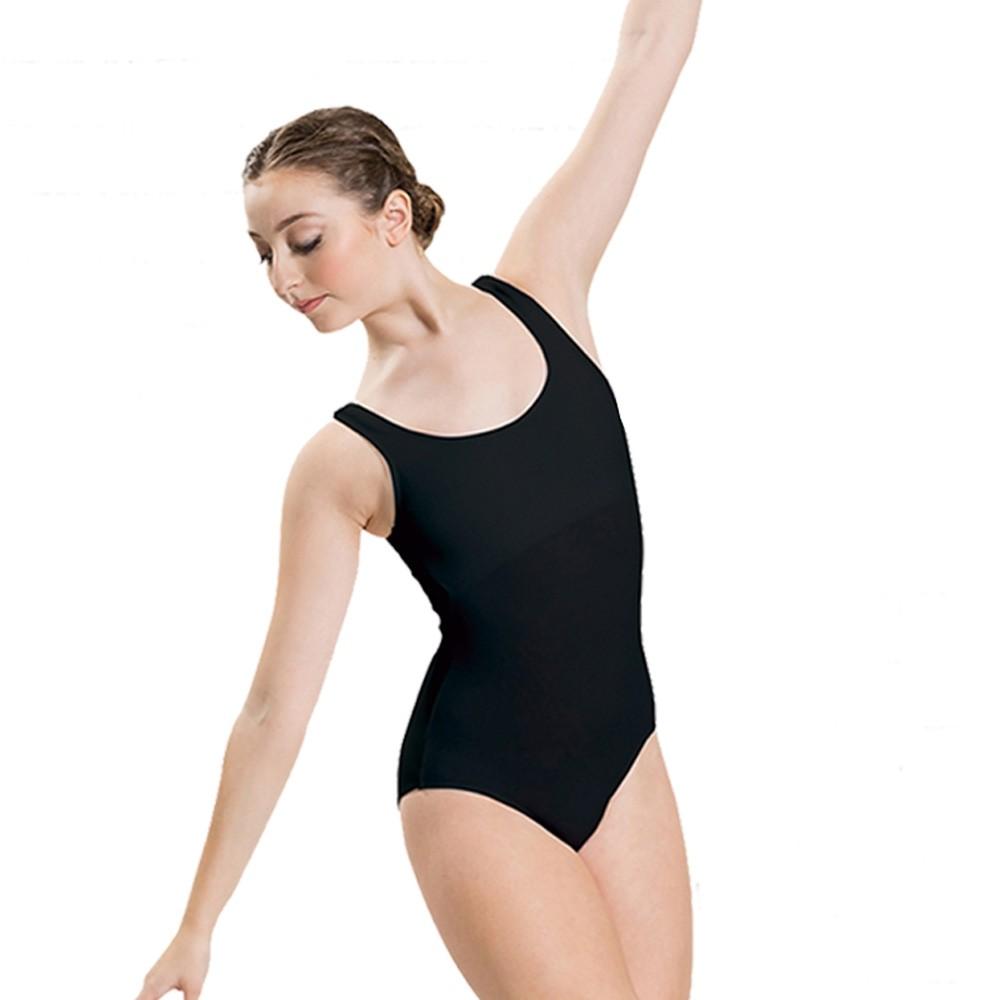 Tanztrikot mit breiten Trägern (Black)