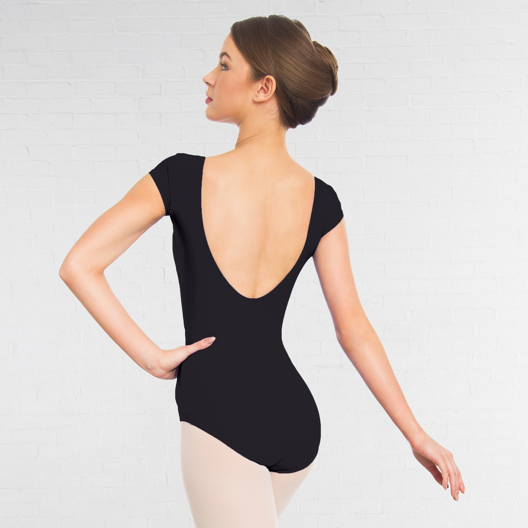 7175e8f76 1st Position Lauren Cap Sleeve Leotard (Matt Nylon) (Black ...