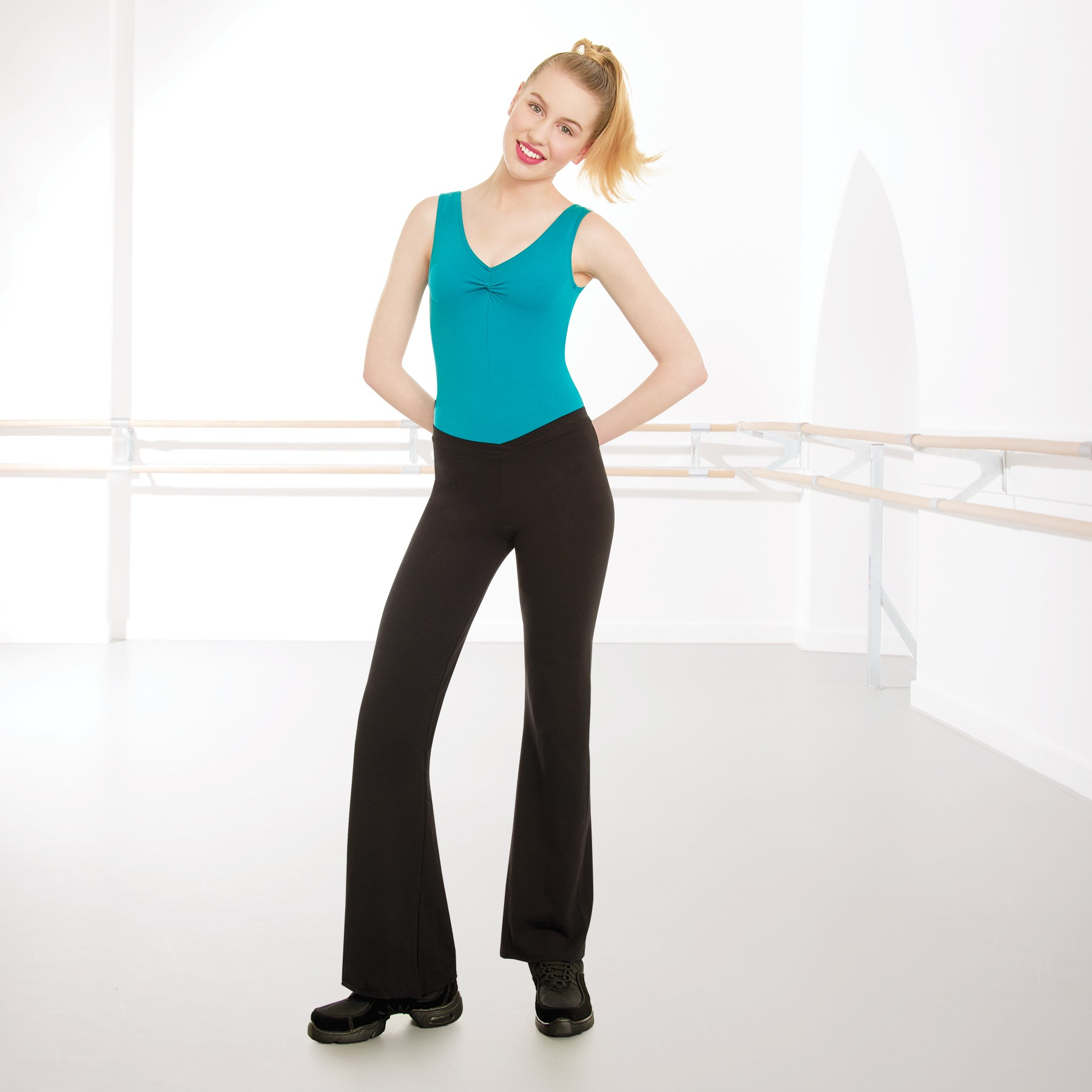 1st Position Value V Front Jazz Pants Cotton
