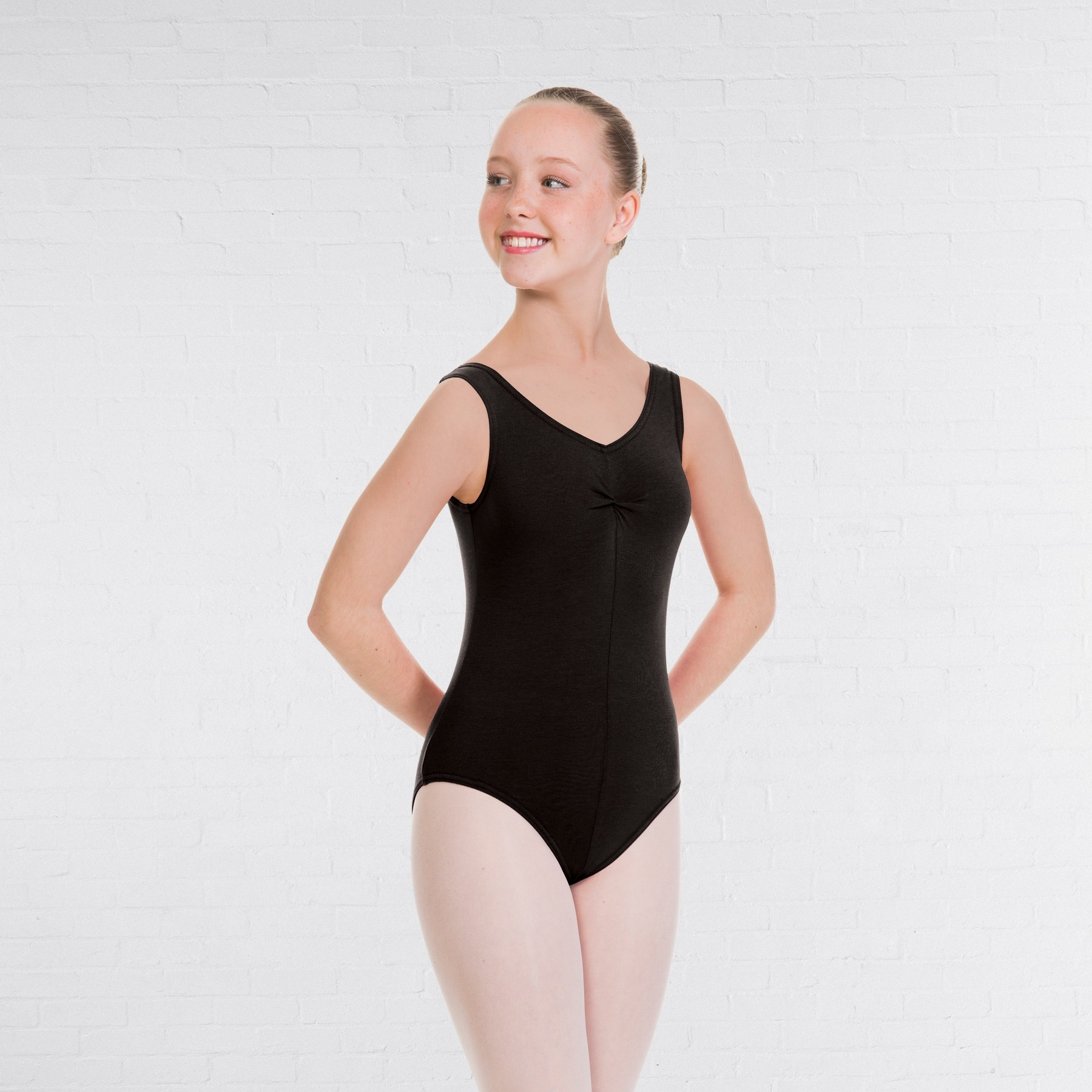 1st Position Angela Style Pre-Int/Int Leotard (Black)