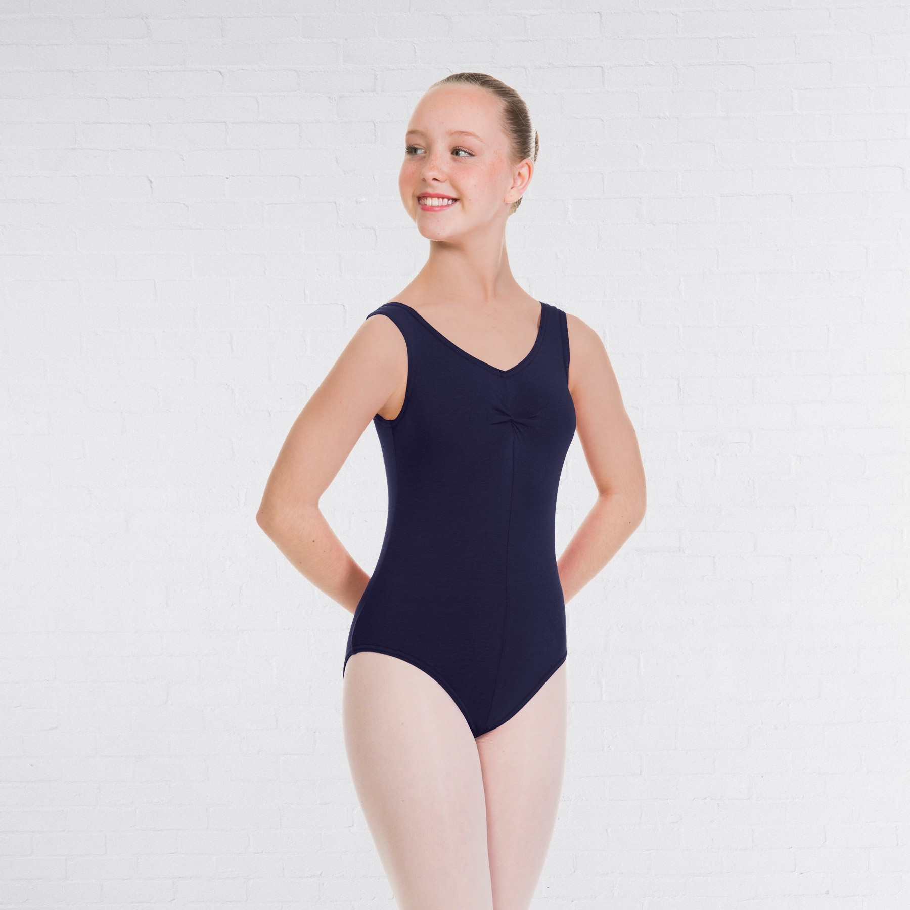 1st Position Angela Style Pre-Int/Int Leotard (Navy Blue)