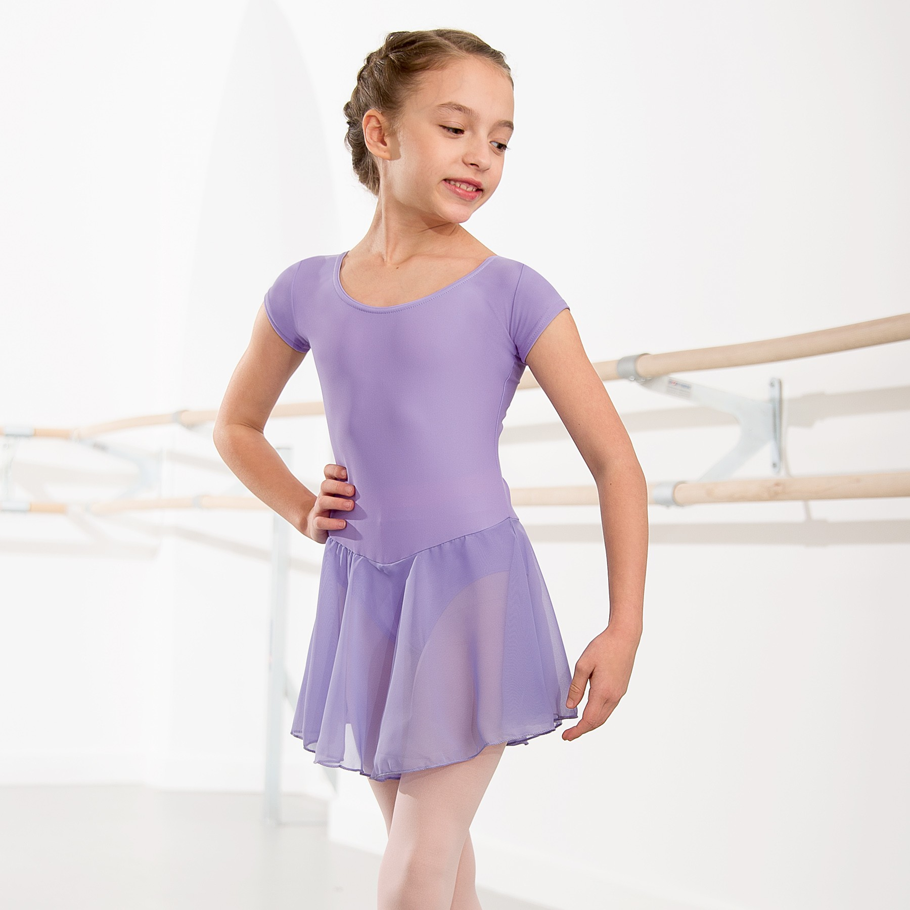 1st Position Milly Voile Skirted Cap Sleeve Leotard (Lilac)