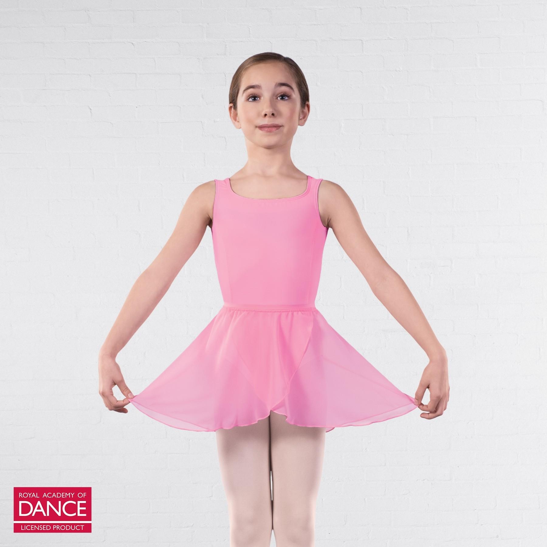 RAD Approved Emilia Wrapover Chiffon Skirt (Pink)