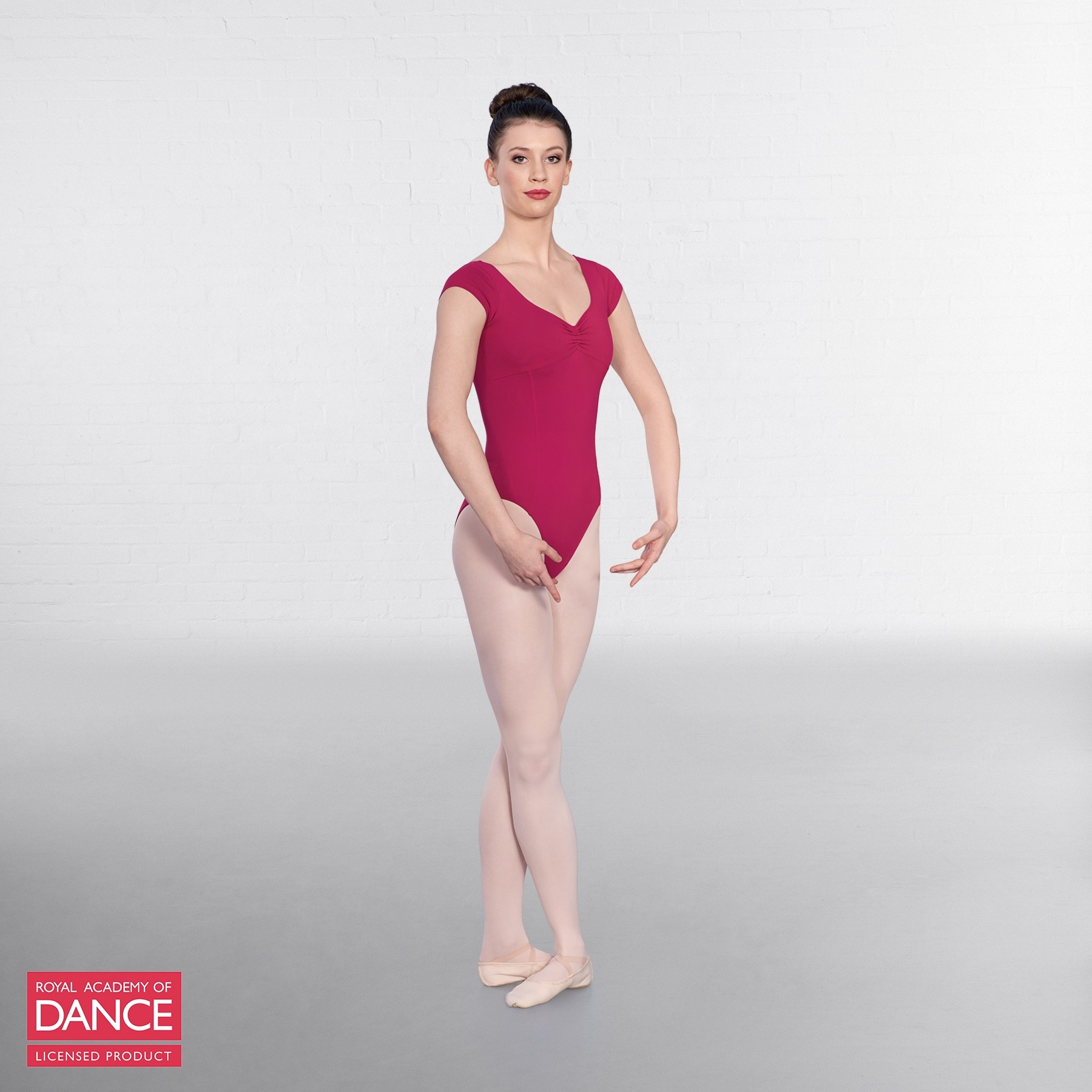 RAD Approved Leotard with Ruched Front (Burgundy)