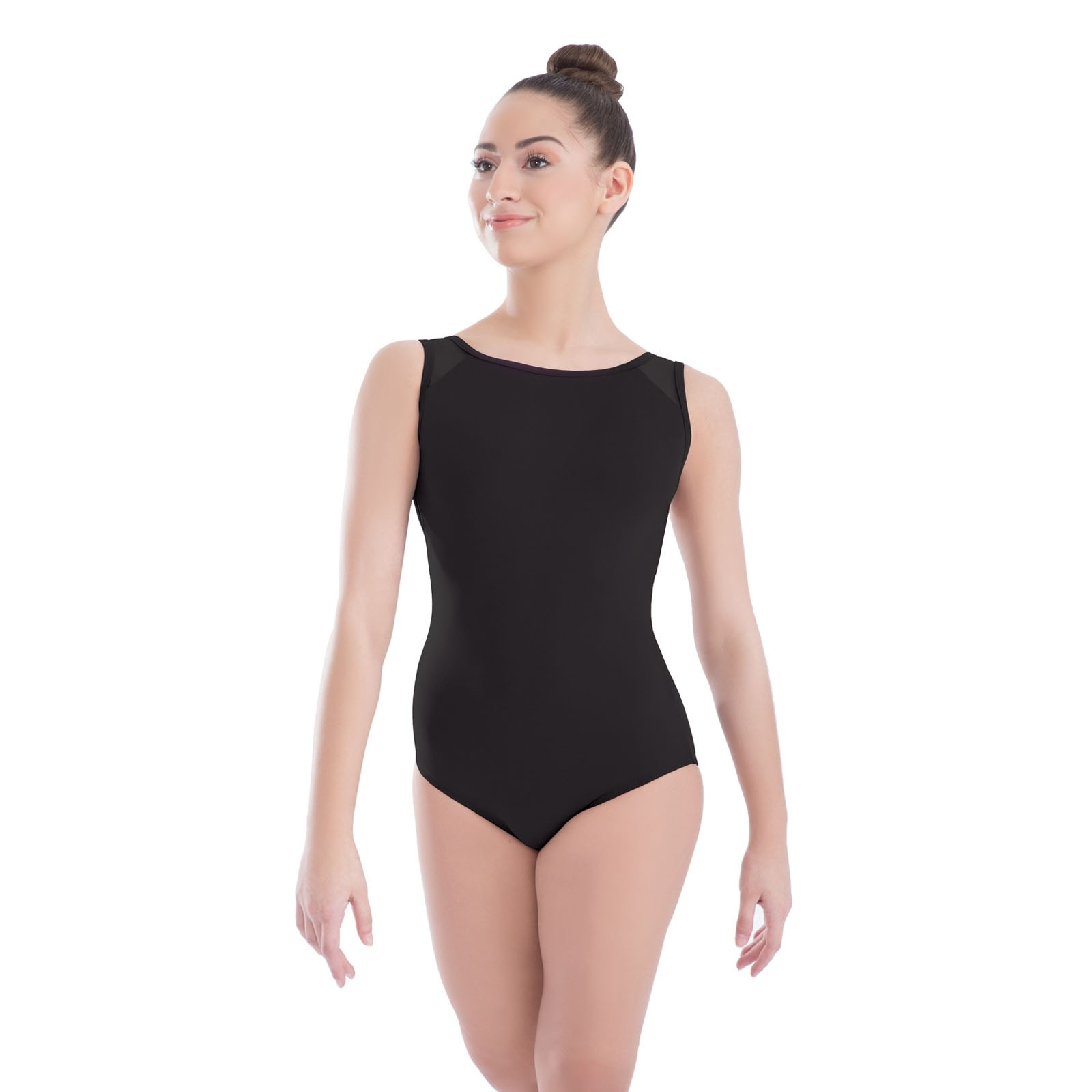 Revolution Strappy Mesh Tank Leotard (Black)