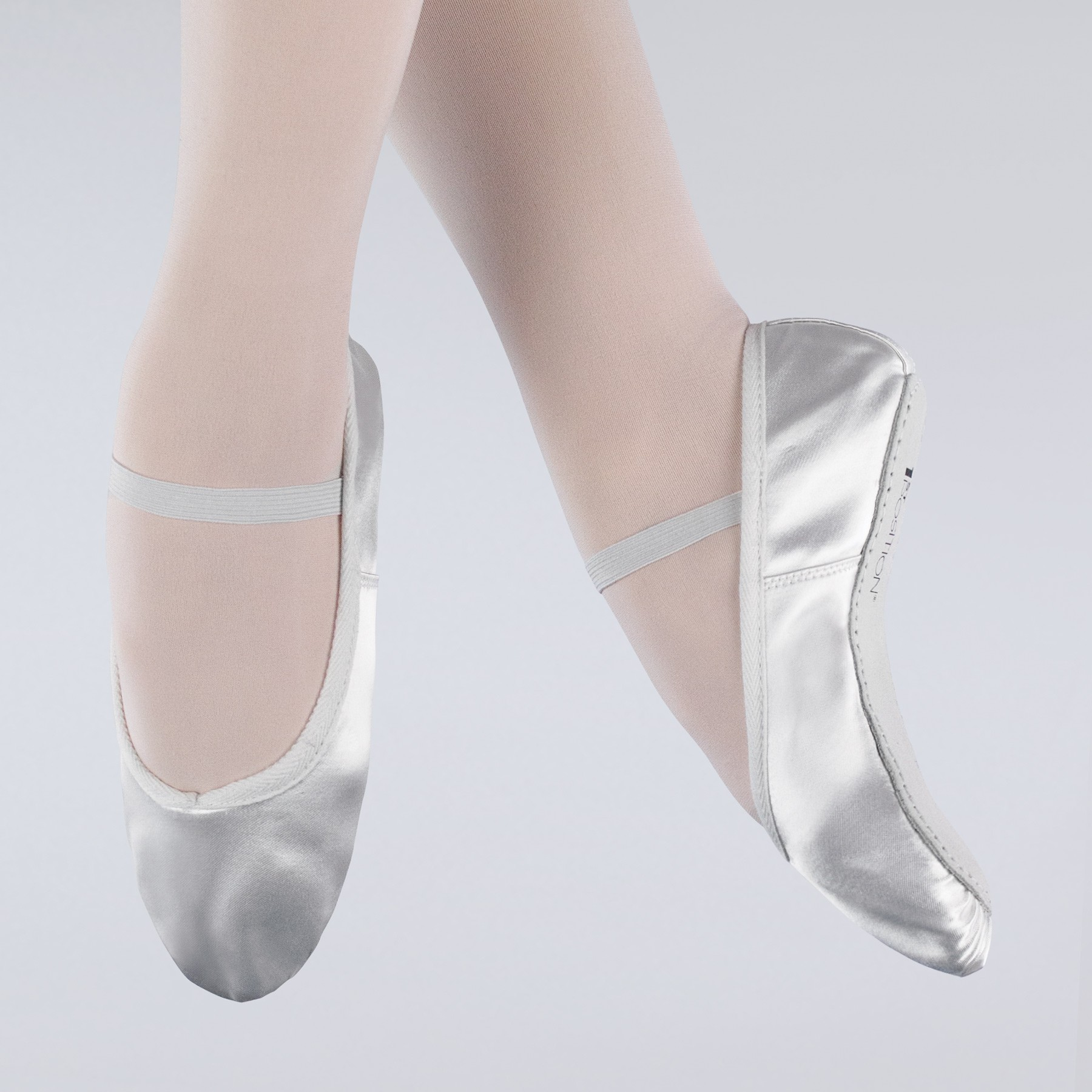 1st Position Satin Ballet Shoes (White)