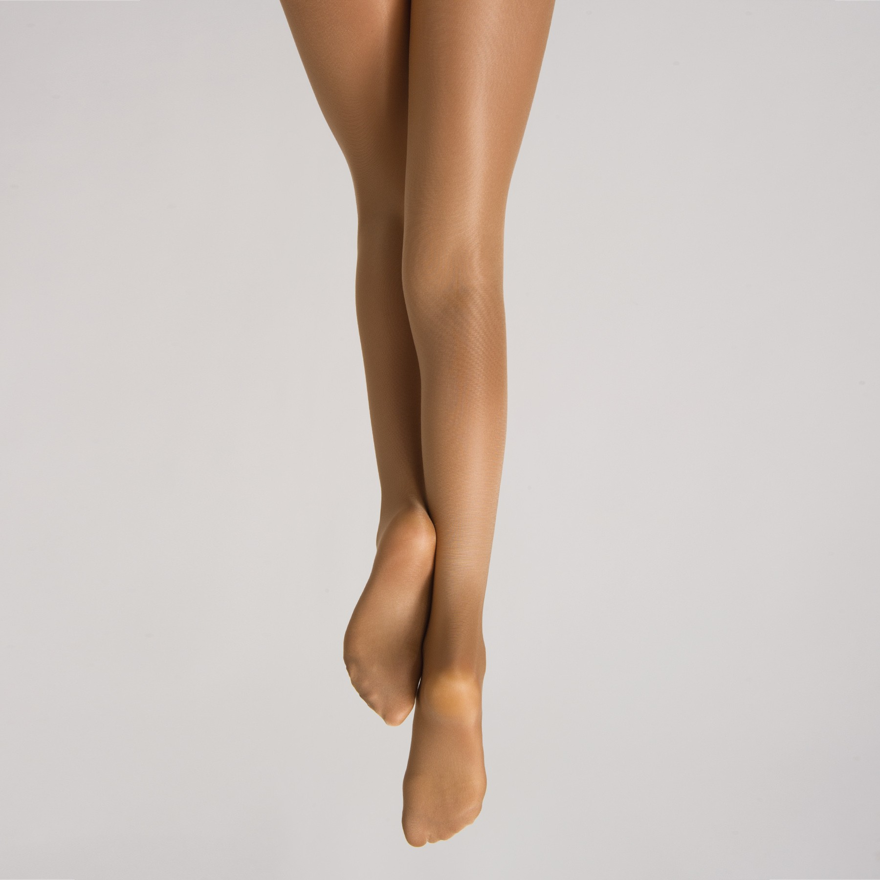 Danskin Girls Footed Ultra Shimmery Tights (Light Toast)