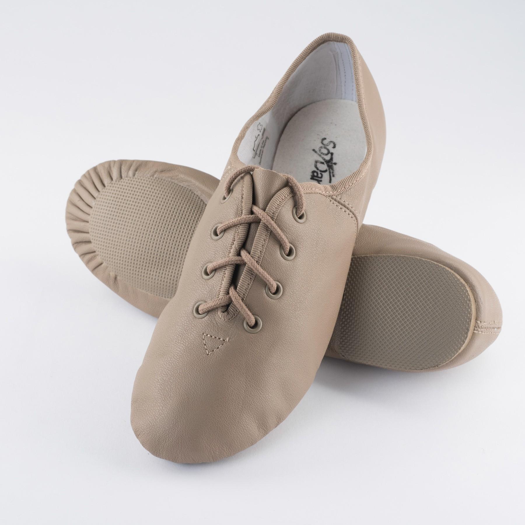 So Danca Split Sole Rubber Jazz Shoe (Tan)