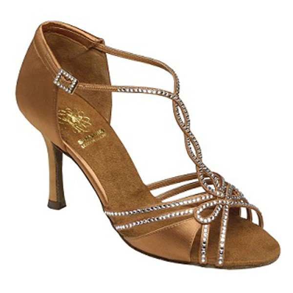 Supadance Satin Sandal (Dark Tan)